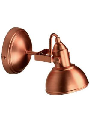 Aplique de pared - 1 Foco - Metal Cobre Mate