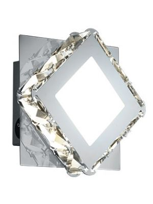 Aplique de Pared 1 Foco Diamantes de Cristal - Cromo