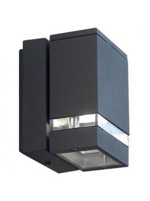 Aplique de Pared Exterior Rectangular Rect - Antracita