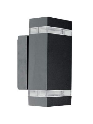 Aplique de Pared Exterior Rectangular Rect2 - Antracita