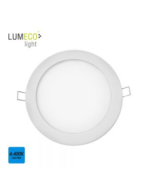 DOWNLIGHT LED EMPOTRABLE 20W LUZ FRIA 6.400K 1500 LUMENS BLANCO LUMECO