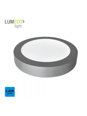 DOWNLIGHT LED SUPERFICIE 20W 1500 LUMENS 6.400K LUZ FRIA CROMO MATE EDM