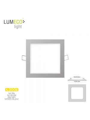 MINI DOWNLIGHT LED LUMECO 6W 320 LUMEN CUADRADO 12CM 4.000K MARCO CROMO