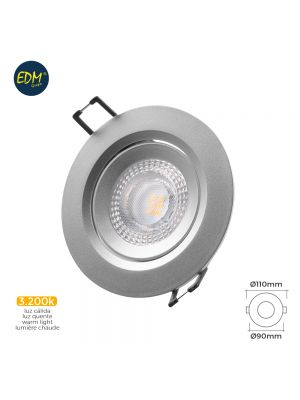 DOWNLIGHT LED EMPOTRABLE 5W 380 LUMEN 3.200K REDONDO MARCO CROMO EDM