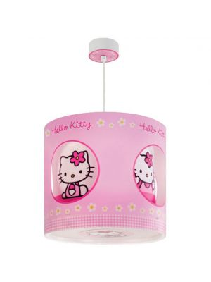 Lampara Colgante Techo Infantil Giratoria Hello Kitty